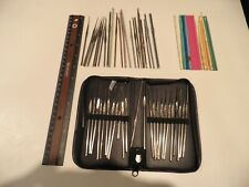 Crochet Hooks, large set of misc, various sizes and makes