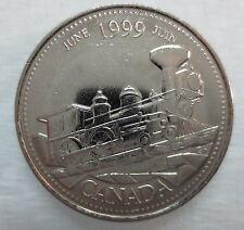 1999 CANADA 25¢ JUNE MILLENIUM SERIES BRILLIANT UNCIRCULATED QUARTER
