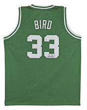 Larry Bird Auténtico Firmado Verde Pro Estilo Jersey Autografiado Bas presenciado