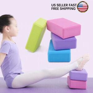 Yoga Block Foam Brick Latex-Free EVA Foam Soft Non-Slip Surface Yoga Pilates New