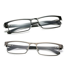 Reading Glasses Readers Rectangular Business Metal Eyeglass +1.0 2.0 2.5 3.0 3.5