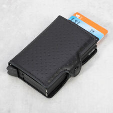 NEW Secrid Perforated Leather Twin Wallet Black