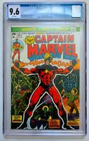CAPTAIN MARVEL #32 CGC 9.6 WHITE PAGES 05/74 MOVIE HOT KEY! THANOS ORIGIN DRAX!