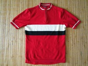 Portland Wool Cycleworks s/s wool cycling jersey, red/blk/white medium