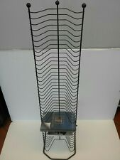 Steel Media Tower Rack Video Game CD DVD Storage Organizer Shelf Stand Black New