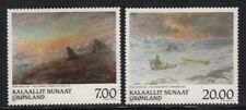 Greenland 1999 Peter Rosing Paintings set Sc# 349-50 NH