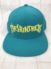 THE HUNDREDS Adam Bomb Turquoise Embroidered Logo Hat Cap SnapBack Sample  Rare! 698a8f991a98