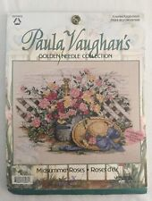 Paula Vaughn 113965 MIDSUMMER ROSES Needlepoint Kit NEW Golden Needle Collection