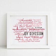 More details for joy division poster, unknown pleasures, framed original art, album lyrics print