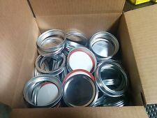 Ball Wide Mouth Lids and Bands 100 each for Mason Jars - NEW SureTIght Lids