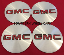 "4 Wheel Center Cap Logo Sticker Decal Emblem SILVER 3.5"" 88mm GMC 1500 2500 3500"