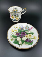 Vintage Queen's Rosina Fine Bone China England Floral Gold Trim Cup & Saucer Set