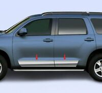 "fit:2007-2020 Toyota Sequoia Stainless Steel Molding Rocker Panel Trim 8"" 4Pc"