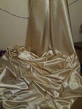 "3M beige gold  DRESS  SATIN FABRIC..58""  WIDE"