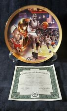 "Michael Jordan ""1991 Championship"" Collector Plate Upper Deck - With COA"