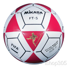 Mikasa FT5A Goal Master Soccer Ball Size 5 White/Red Official Footvolley Ball
