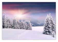 XXL Poster 100 x 70cm tiefverschneite Wald Winterlandschaft schneebedeckte Bäume
