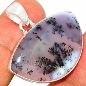 Merlinite Dendritic Opal - Turkey Sterling Silver Pendant Jewelry BP32003