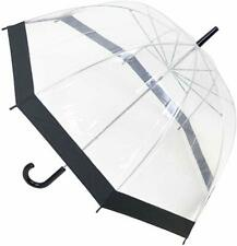 Octave Mujer Ligero Transparente Paraguas Cúpula Con Colorido Recortar