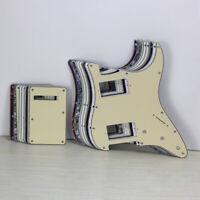 HH Pickguard 2 Humbucker 11 Holes Tremolo Back Plate + Screws for Strat Guitar