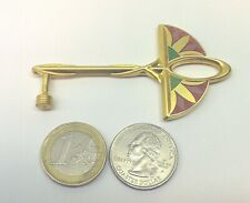 ~ Egyptian Key geocoin Gold Ankh Lotus Egypt 3D Unactivated Trackable