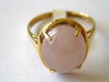 New Natural 14k Solid Yellow Gold Y/G Jade Ring, 10*12mm,Oval Shape, SZ-7, NWT