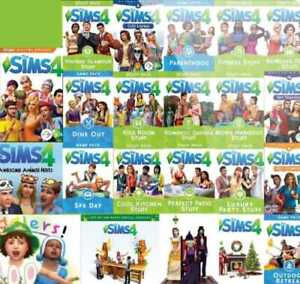 The Sims 4 ALL Expansions + Nifty Knitting+ALL game/stuff packs