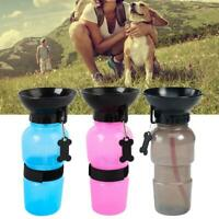 500ml Portable Dog Cat Pet Water Bottle Drinking Water Cup Puppy Travel Outdoor