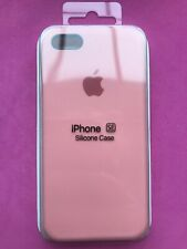 Apple iPhone 5 5S SE Silicon Case New Apple Slim Design Genuine Cover Pink UK