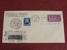 Crosby Submarine Naval Cover - 1953 - Sub Base Cancel - USS Diablo SS-479