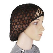 1Piece Soft Rayon Thick Hair Net French Mesh Fish Net Hairnet & Snood Black