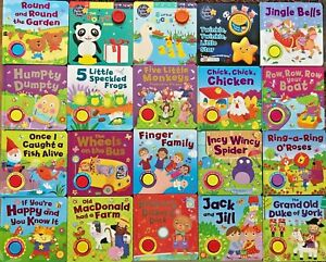 baby/kids One Button Sound books Famous Nursery Rhymes Ages 0+ Hardback NEW