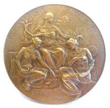 BRONZE ART NOUVEAU MEDAL BY PAUL DUBOIS - UNIVERSAL EXPOSITION LIEGE 1905 N120