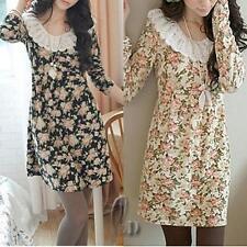 Cotton Blend Long Sleeve Floral Petite Tops & Blouses for Women