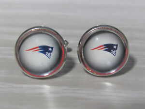 with jewelry box New England Patriots,Patriots Cufflinks,New England,Patriots,NFL Cufflinks,Football,Groom