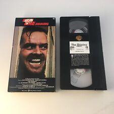 The Shining (Vhs,1990) Stanley Kubrick Horror Thriller Jack Nicholson 80s Horror