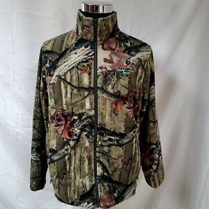 Mossy Oak Soft Fleece Jacket Full Zip Break-Up Country Camo Mens Medium