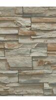 York Wallcoverings SS1020 Natural Elements Flat Stone Soak/Paste Wallpaper