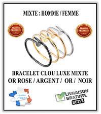 Bracelet CLOU Or Argent Or rose Noir LUXE Femme Homme MIXTE (bijou love clous)