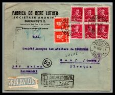 GP GOLDPATH: ROMANIA COVER 1941 REGISTERED LETTER AIR MAIL _CV477_P21