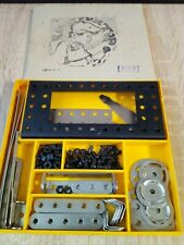 1974 USSR vintage designer game, metal lift construction set