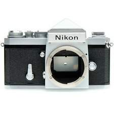 Nikon F Film SLR Camera Body (Silver) with Prism Viewfinder