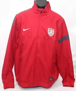 Nike Team USA Soccer National Sideline Jacket Red Navy Blue 527778-604 Mens XL