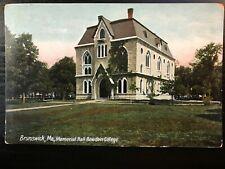 Vintage Postcard>1907-1915>Memorial Hall>Bowdoin College>Brunswick>Maine