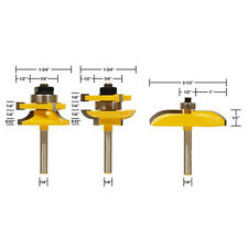 """3Pcs/Set 1/4"""" Shank Ogee Raised Panel and Rail & Stile Router Bits Cutting Tool"""