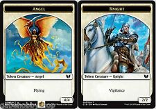ANGEL // KNIGHT DOUBLE-SIDED TOKEN Commander 2015 MTG cards (GH)