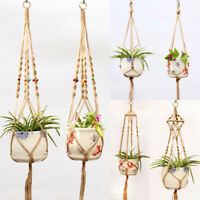 Plant Hanger Braided Hanging Planter Basket Hemp Rope Macrame Pot Holder String