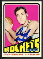 Dick Cunningham #62 signed autograph auto 1972-73 Topps Basketball Trading Card