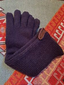 Marni Long Navy Blue Wool Cashmere Gloves M
