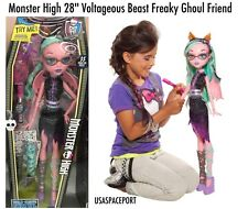 "28"" Monster High My Size Doll PINK Voltageous Beast Freaky Friend Girls GIFT Set"